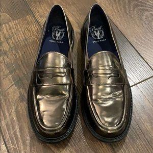 Cole Hann Metallic Loafers